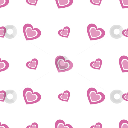 Seamless Hearts Background stock vector clipart, Vector illustration of a seamless hearts pattern by Inge Schepers