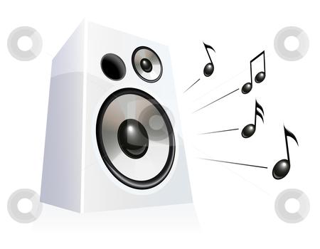 Speaker stock vector clipart, Speaker playing music, vector illustration by Laurent Renault