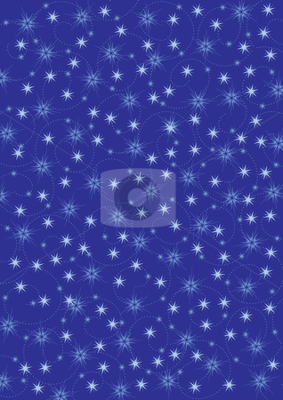 Christmas background stock vector clipart, Illustrated christmas background with stars by Rositsa Maslarska