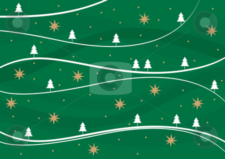 Winter background stock vector clipart, Winter retro background - vector illustration. by Rositsa Maslarska