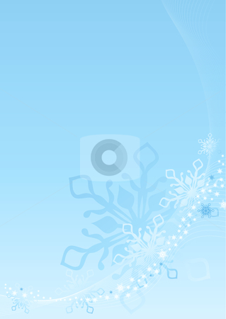 Winter background stock vector clipart, Winter background with snowflakes. Vector illustration. by Rositsa Maslarska