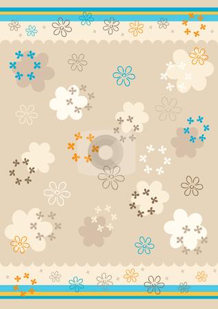 Floral background stock vector clipart, Floral pastel background. Vector illustration. by Rositsa Maslarska