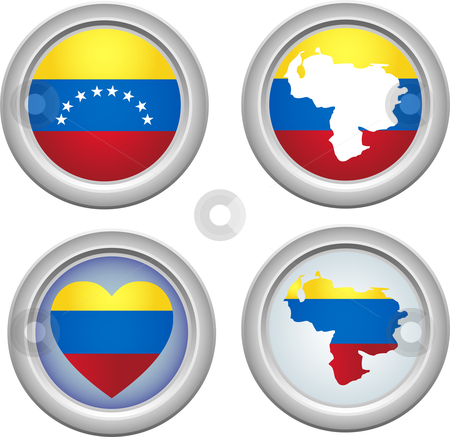 Venezuela Buttons stock vector clipart, Venezuela Buttons for 5th of July by Augusto Cabral Graphiste Rennes