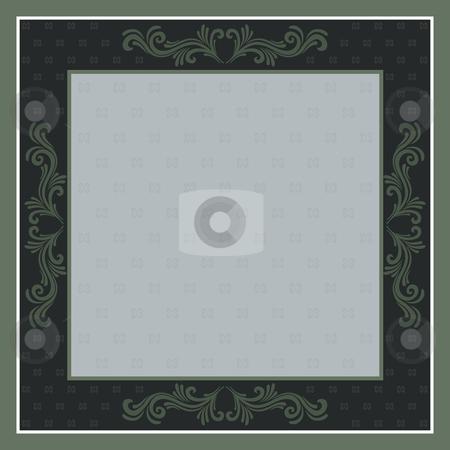 Frame stock vector clipart, Vector illustration - frame background with ornaments by Rositsa Maslarska