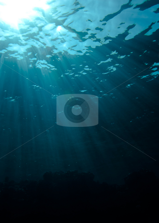 Sunrays at the surface. stock photo, Sunrays at the surface. by Mark Doherty