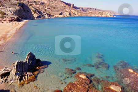 Vai beach, Crete stock photo, Travel photography: Vai beach, on the far east end of Crete by Fernando Barozza