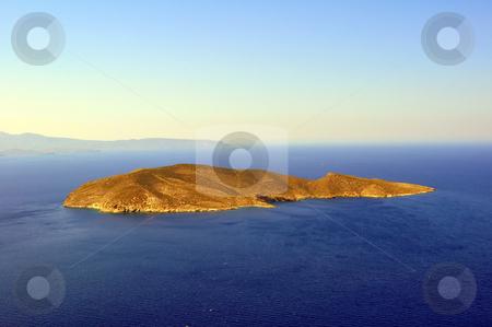 Island in the Mediterranean Sea stock photo, Travel photography: View of a small island in the Mediterranean Sea, Crete,   Greece by Fernando Barozza