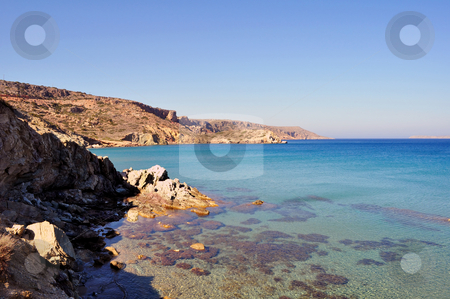 Fantastic view of the east coast of Crete stock photo, Travel photography: View of the Mediterranean Sea and east coast of Crete by Fernando Barozza