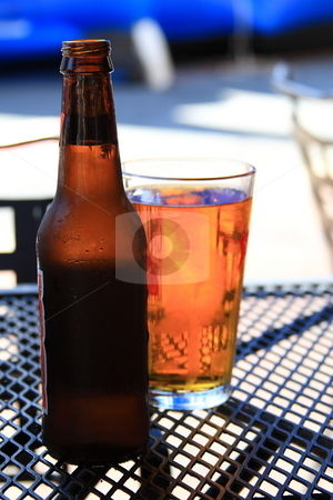 Cold Beer stock photo, Refreshing cold beer on a hot day by Jack Schiffer