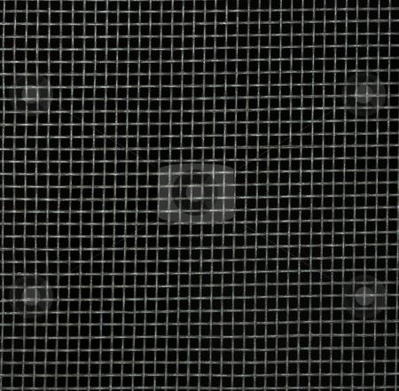 Screen Door Detail Pattern stock photo, Screen door detail pattern against dark background. by Denis Radovanovic