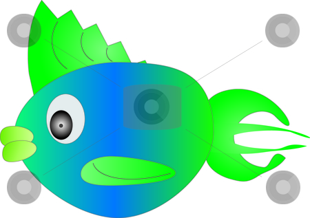 Colorful Fish stock vector clipart,  by W. Paul Thomas