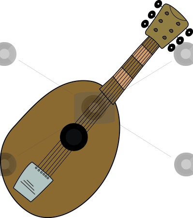 Guitar stock vector clipart, Illustration of an acoustic guitar. by W. Paul Thomas
