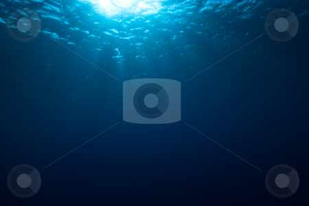 Sunrays at the suface of the sea. stock photo, Sunrays at the suface of the sea. by Mark Doherty