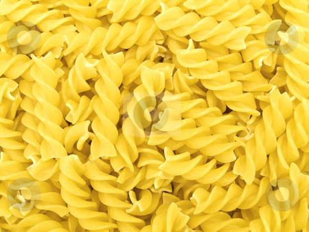 Pasta  stock photo, The photo of the yellow pasta background by Sergej Razvodovskij