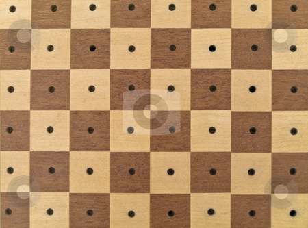 Chessboard  stock photo, The chessboard in brown and white without 	chessmen by Sergej Razvodovskij
