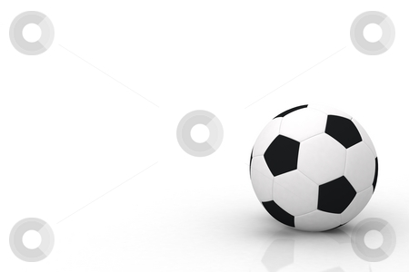 Football stock photo, This is an isolated soccer ball - 3d rendering by Kais Chaabane