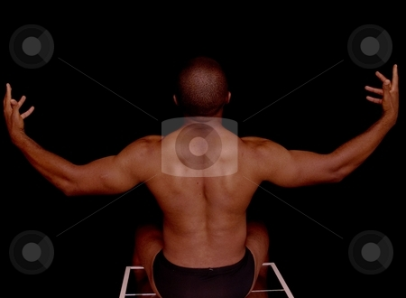 Figure study stock photo, A very fit man's back by Cora Reed