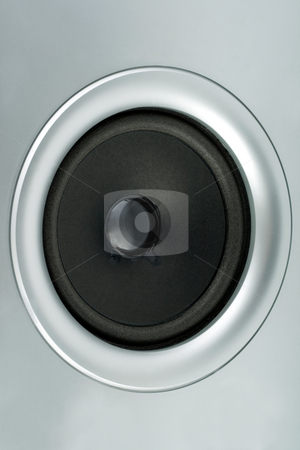 Speaker stock photo, audio music sound speaker subwoofer grey  background by Vladyslav Danilin