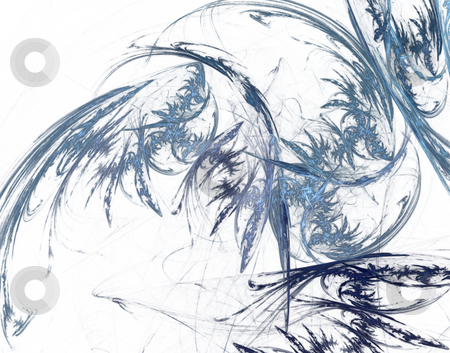 Abstract ice flowers stock photo, Abstract ice ornament on white background - 3d illustration by J?