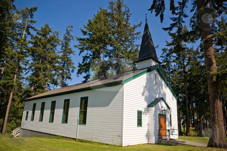 Church stock photo, An old church in Port Townsend Washington. by Travis Manley