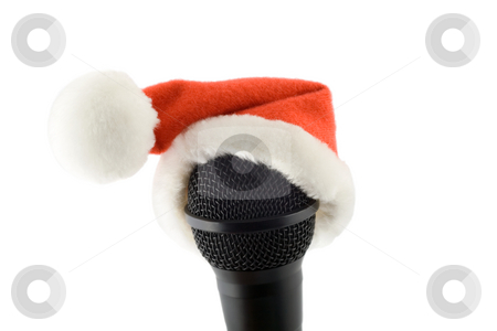 Merry christmas microphone stock photo, Merry christmas microphone , isolated on a white background by Vladyslav Danilin