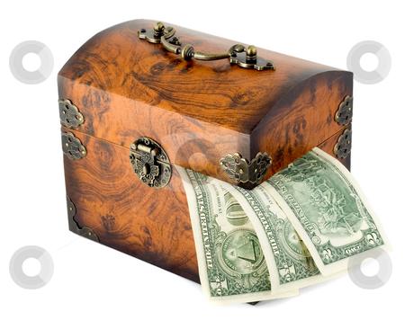 Treasure chest stock photo, Closed money treasure chest by Vladyslav Danilin