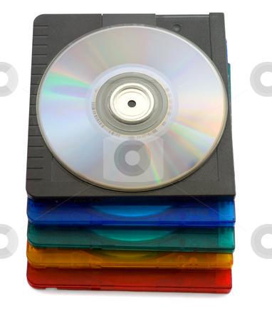 Mini discs stock photo, Mini discs isolated on white background by Vladyslav Danilin