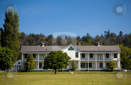Fort Worden State Park stock photo, Buildings at Fort Worden State Park in Port Townsend Washington. by Travis Manley