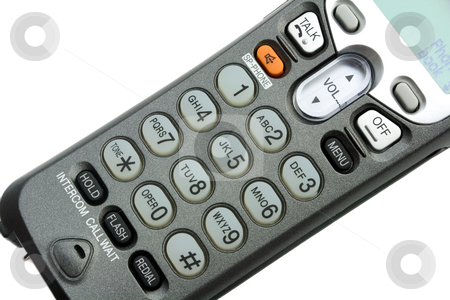 Telephone keypad stock photo, Telephone keypad isolated on white background by Vladyslav Danilin