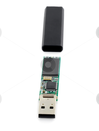 Usb flash drive stock photo, Usb flash drive , close-up isolated on white background by Vladyslav Danilin