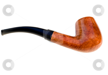 TOBACCO PIPE stock photo, TOBACCO PIPE , isolated on white background. by Vladyslav Danilin