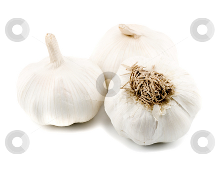 Garlic stock photo, Garlic close-up concepts isolated on white background by Vladyslav Danilin