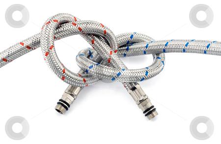 Metallic hose stock photo, Metallic hose isolated on white by Vladyslav Danilin
