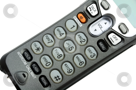 Phone keypad stock photo, Phone keypad close-up ,isolated on white background by Vladyslav Danilin