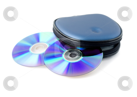 Disk computer stock photo, Disk computer close-up isolated on white background by Vladyslav Danilin