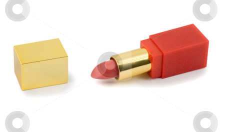 Lipstick close-up stock photo, Lipstick close-up isolated on white background by Vladyslav Danilin