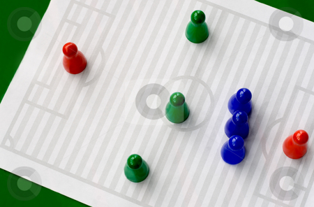 Football symbol tactics  stock photo, Football  notepad  is symbol strategy football field by Vladyslav Danilin