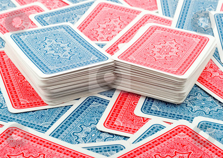 Deck poker cards stock photo, Deck poker cards on background cards close-up by Vladyslav Danilin