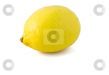 Lemon ripe stock photo, Lemon ripe close-up isolated on white background by Vladyslav Danilin