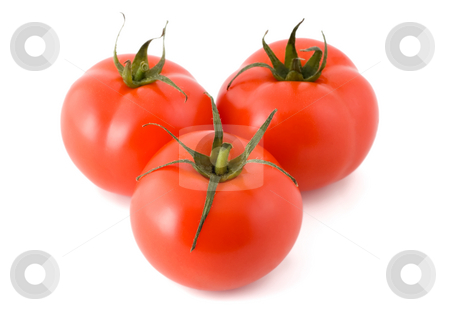 Tomato stock photo, Tomato ripe close-up isolated on white background by Vladyslav Danilin