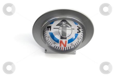 Compass  stock photo, Close up of a  Marine Compass isolated on white background by Vladyslav Danilin