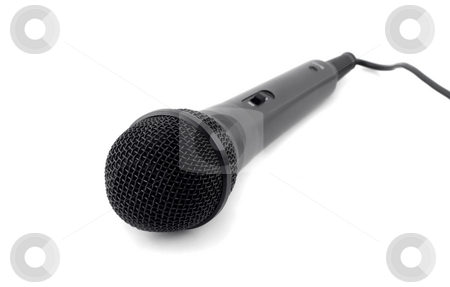 Microphone stock photo, Microphone close-up,isolated on white background. by Vladyslav Danilin