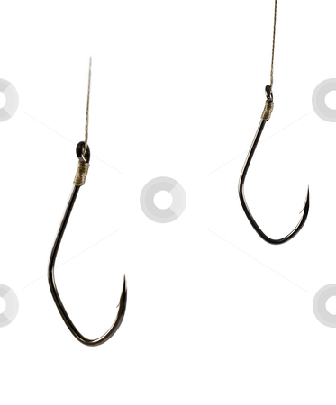 Fish Hook stock photo, Sharp Fish Hook on a White Background by Vladyslav Danilin