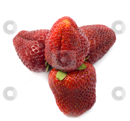 Strawberries stock photo, Strawberries isolated on white background by Vladyslav Danilin