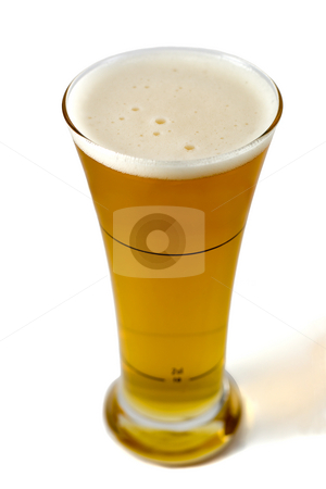 Glass of beer stock photo, Glass of beer,isolated on a white background by Vladyslav Danilin