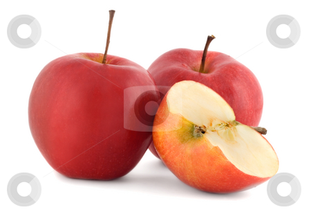 Red apple juicy stock photo, Red apple juicy , close-up isolated on white background by Vladyslav Danilin