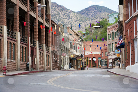 Downtown Bisbee Arizona stock photo, Downtown in historical Bisbee Arizona mining city by Scott Griessel