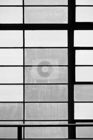 Window Panes stock photo, Window panes in a geometric pattern for background by Scott Griessel