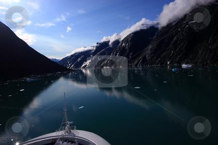 Endicott Arm Fjord, Inner Passage Alaska stock photo, Taken from the deck of Princess Cruise Lines' ship, the Star Princess as we enter the Endicott Arm Fjord in Alaska's inner passage by Bernard Cruz