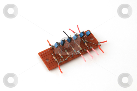 Electronic circuit board stock photo, Electronic circuit board used in a computer. by Ian Langley